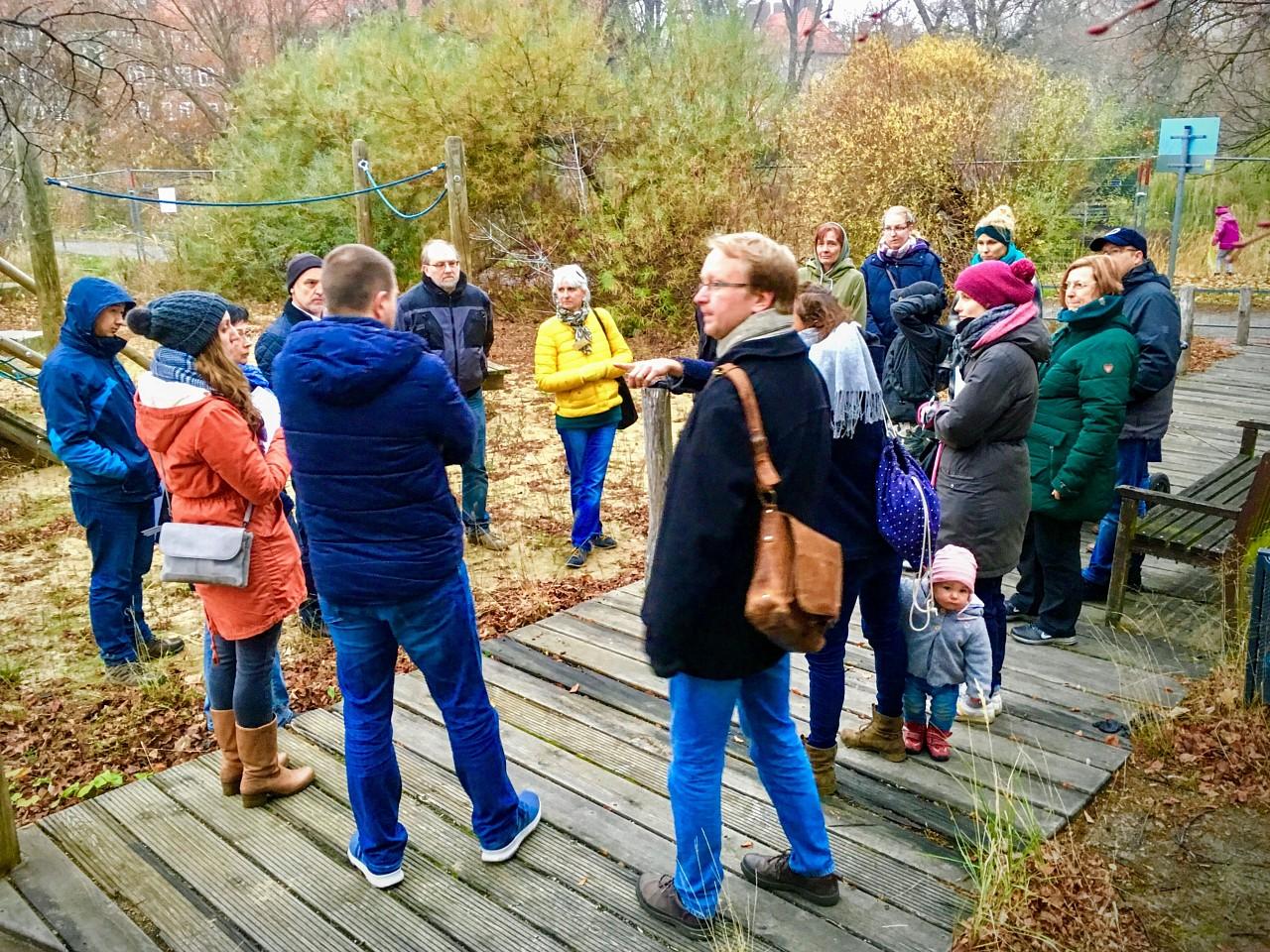 Beteiligungsverfahren am Spielplatz,  23.11.2018 (Foto: Scholz)