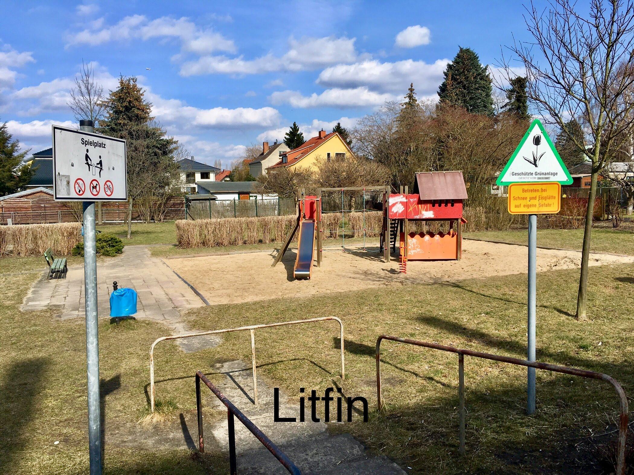 Kinderspielplatz Günter-Ltfin-Straße am 02.04.2018,  Foto: Scholz