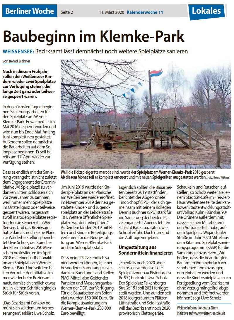 Berliner Woche, Druckausgabe 11.03.2020