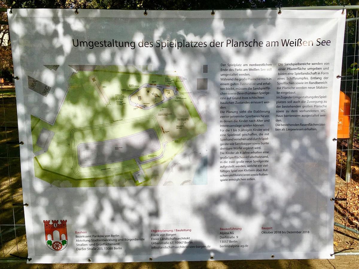 Bauschild am 05.10.2018,  Foto: Scholz