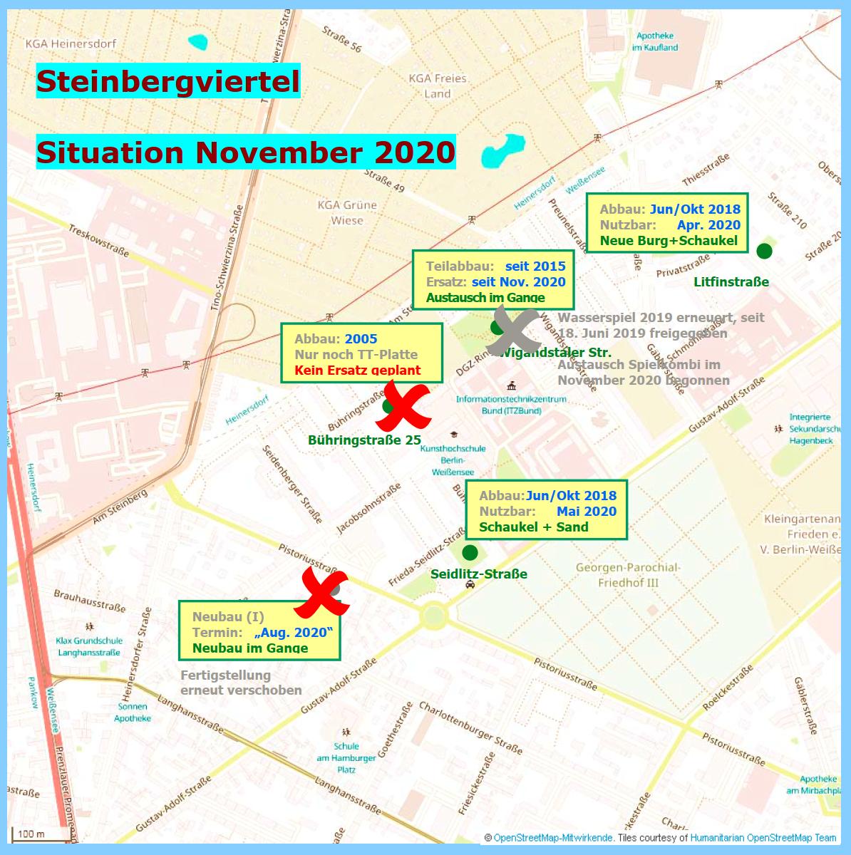 Gebiet zwischen Gustav-Adolf-Straße und Am Steinberg, Stand: 11.11.2020