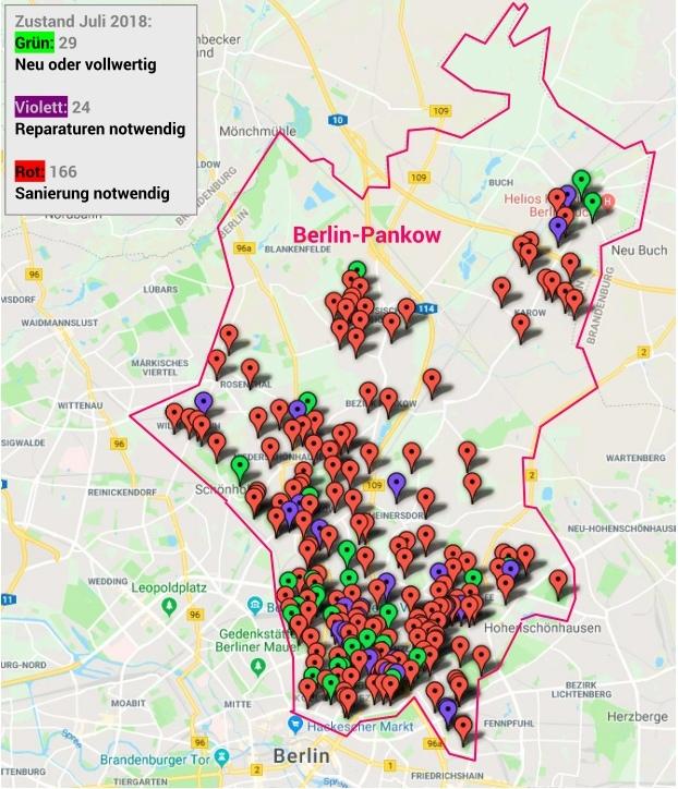 Zustand der öffentlichen Spielplätze in Berlin-Pankow