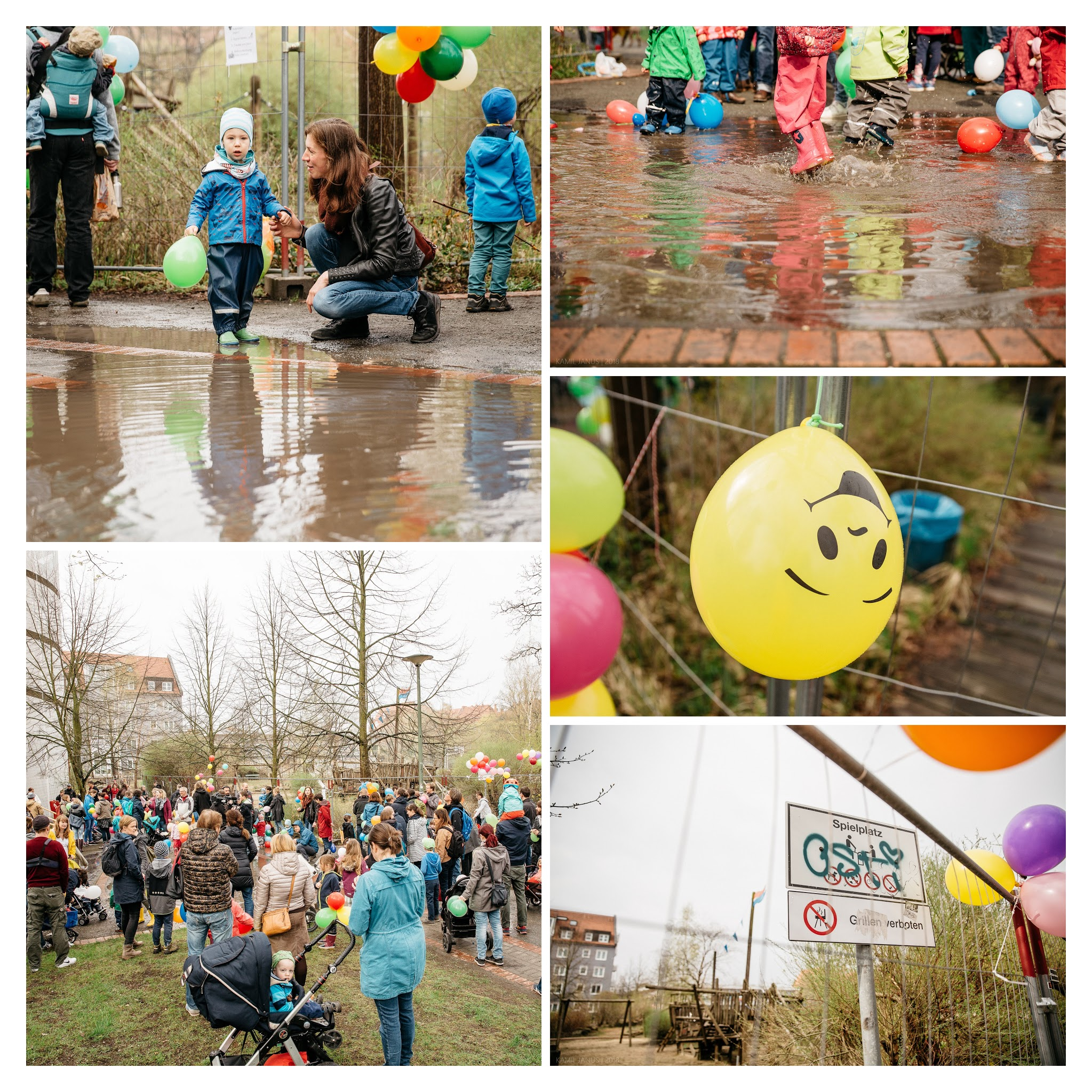 Luftballonpiraten sammeln sich