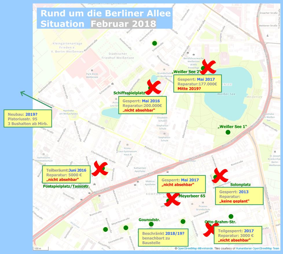 Spielplatzkarte rund um die Berliner Allee Februar 2018